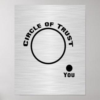 Usted fuera del círculo de la confianza póster