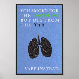 Usted fuma para la nicotina pero muere del impresiones