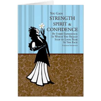 Usted gana fuerza, alcohol y confianza tarjeta de felicitación