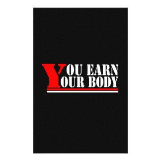 Usted gana su cuerpo  papeleria