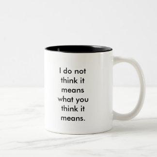 Usted guarda el usar de esa palabra tazas de café