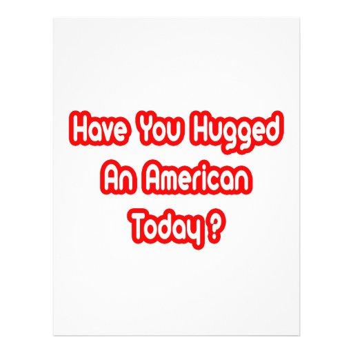 ¿Usted ha abrazado a un americano hoy? Tarjetón