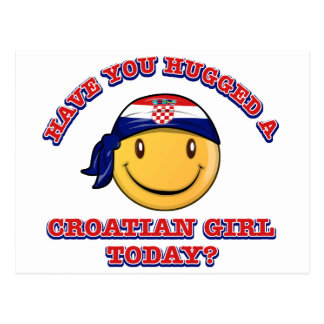 ¿Usted ha abrazado a un chica croata hoy? Postal