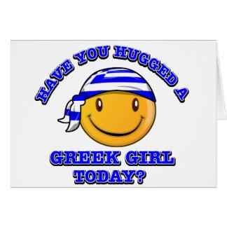 ¿Usted ha abrazado a un chica griego hoy? Tarjeta