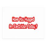 ¿Usted ha abrazado a un electricista hoy? Postales