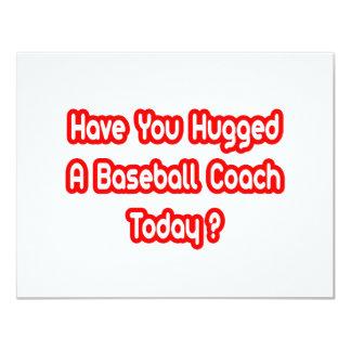 ¿Usted ha abrazado a un entrenador de béisbol hoy? Comunicados Personales