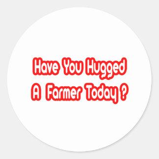 ¿Usted ha abrazado a un granjero hoy Etiqueta