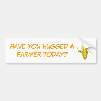 ¿Usted ha abrazado a un granjero hoy? Pegatina Para Auto