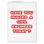 ¿Usted ha abrazado a un ingeniero civil hoy? Tarjetón