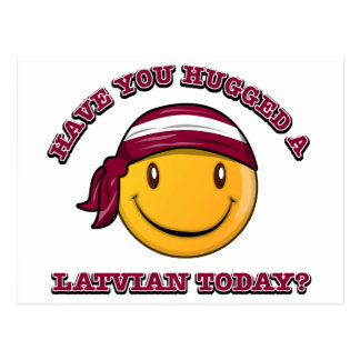 ¿Usted ha abrazado a un Latvian hoy? Tarjeta Postal