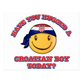 ¿Usted ha abrazado a un muchacho de Croatianb hoy? Tarjeta Postal