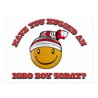 ¿Usted ha abrazado a un muchacho del Igbo hoy? Postal