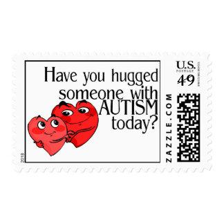 ¿Usted ha abrazado alguien con autismo hoy? Sello