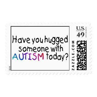 ¿Usted ha abrazado alguien con autismo hoy? Sellos