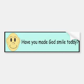 ¿Usted ha hecho que dios sonríe hoy? - Pegatina pa Pegatina Para Auto