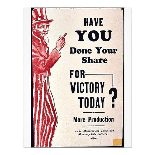 ¿Usted ha hecho su parte para la victoria hoy? Tarjetón