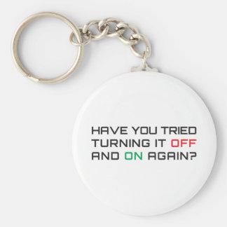 ¿Usted ha intentado girarlo apagado y otra vez? Llavero Redondo Tipo Pin