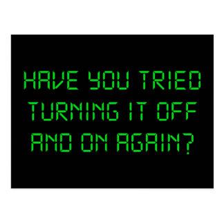 ¿Usted ha intentado girarlo apagado y otra vez? Tarjetas Postales