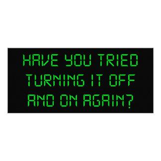 ¿Usted ha intentado girarlo apagado y otra vez? Tarjetas Publicitarias