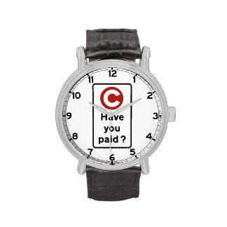 ¿Usted ha pagado? , Señal de tráfico, Reino Unido Relojes