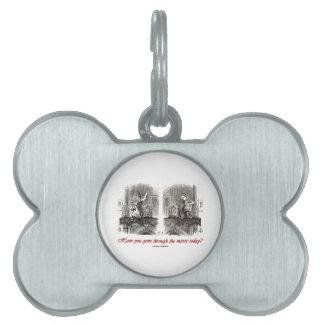 ¿Usted ha pasado a través del espejo hoy? (Alicia) Placas Mascota