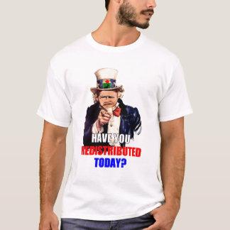 ¿Usted ha redistribuido hoy? Camiseta