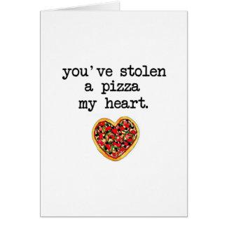 Usted ha robado mi corazón tarjeta de felicitación