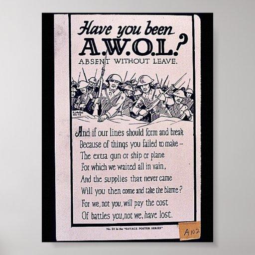 ¿Usted ha sido A.W.O.L? Impresiones
