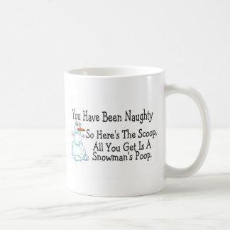 Usted ha sido impulso travieso de Snowmans Tazas De Café