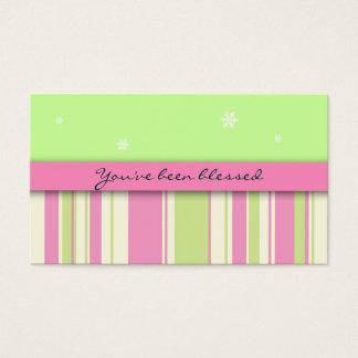 Usted ha sido tarjeta de juego bendecida: tarjetas de visita