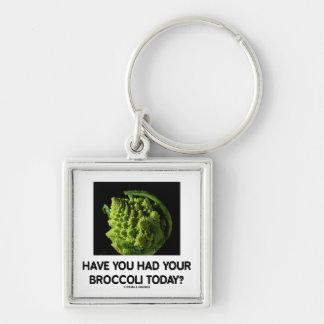 ¿Usted ha tenido su bróculi hoy? Llavero Cuadrado Plateado