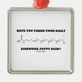 ¿Usted ha tomado su ácido graso esencial diario? Adorno Navideño Cuadrado De Metal