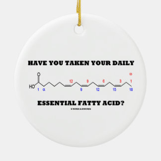 ¿Usted ha tomado su ácido graso esencial diario? Adorno Navideño Redondo De Cerámica