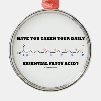 ¿Usted ha tomado su ácido graso esencial diario? Adorno Navideño Redondo De Metal