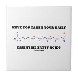 ¿Usted ha tomado su ácido graso esencial diario? Azulejo Cuadrado Pequeño
