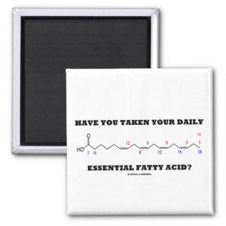 ¿Usted ha tomado su ácido graso esencial diario? Imán Cuadrado