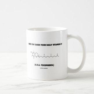 ¿Usted ha tomado su vitamina E? (A.K.A. tocoferol) Tazas De Café