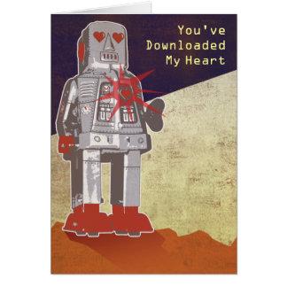 Usted ha transferido mi corazón tarjeta de felicitación