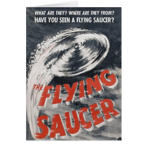 ¿Usted ha visto un platillo volante? Tarjeta De Felicitación