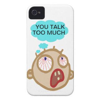 Usted habla demasiada cubierta del teléfono iPhone 4 funda