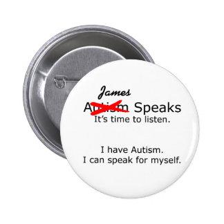 Usted habla - el botón adaptable del autismo pin redondo de 2 pulgadas