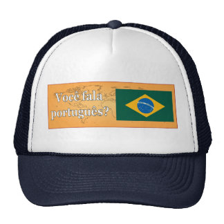 ¿Usted habla portugués? en portugués. Wf de la Gorro De Camionero