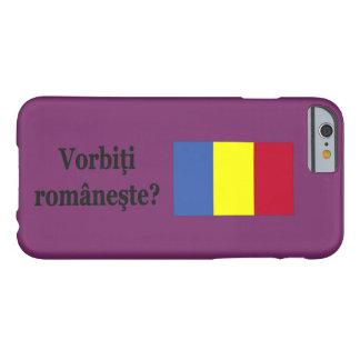 ¿Usted habla rumano? en rumano. FB de la bandera Funda De iPhone 6 Barely There
