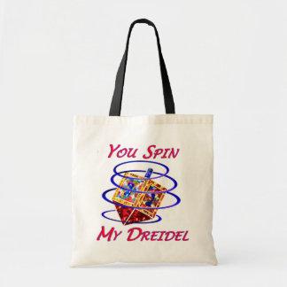 Usted hace girar mi Dreidel Bolsa Lienzo