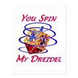 Usted hace girar mi Dreidel Tarjeta Postal