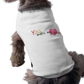 Usted hace mi camiseta del perro de la sonrisa del playera sin mangas para perro
