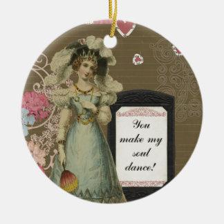 Usted hace mi danza del alma adorno navideño redondo de cerámica