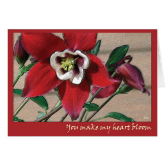 Usted hace mi floración del corazón tarjeta