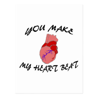 Usted hace mi golpe de corazón tarjetas postales