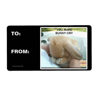 Usted hace que el conejito llora etiqueta de envío